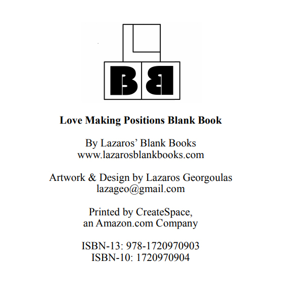 Love Making Positions Blank Book - Interior - 2