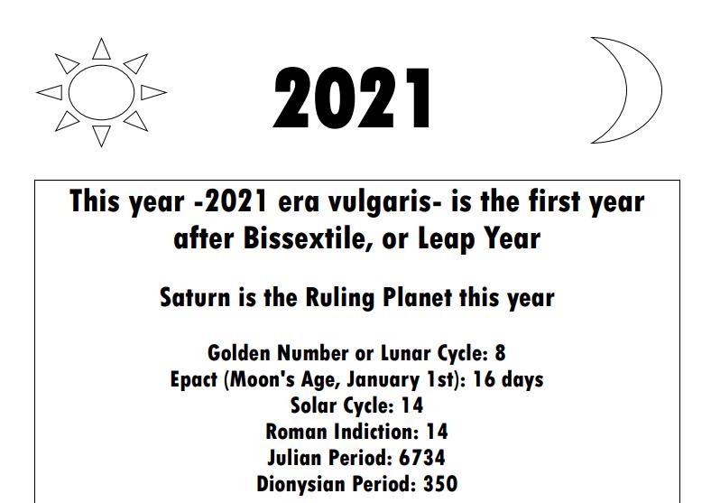 Olympian Gods Calendar 2020 - Book Interior - 3