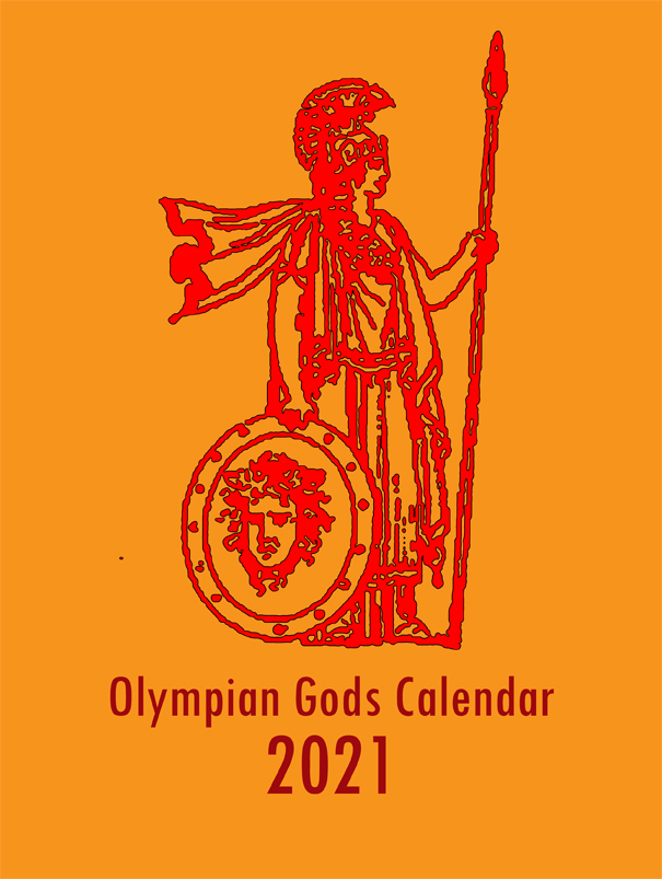 Olympian Gods Calendar 2020 - Front Cover