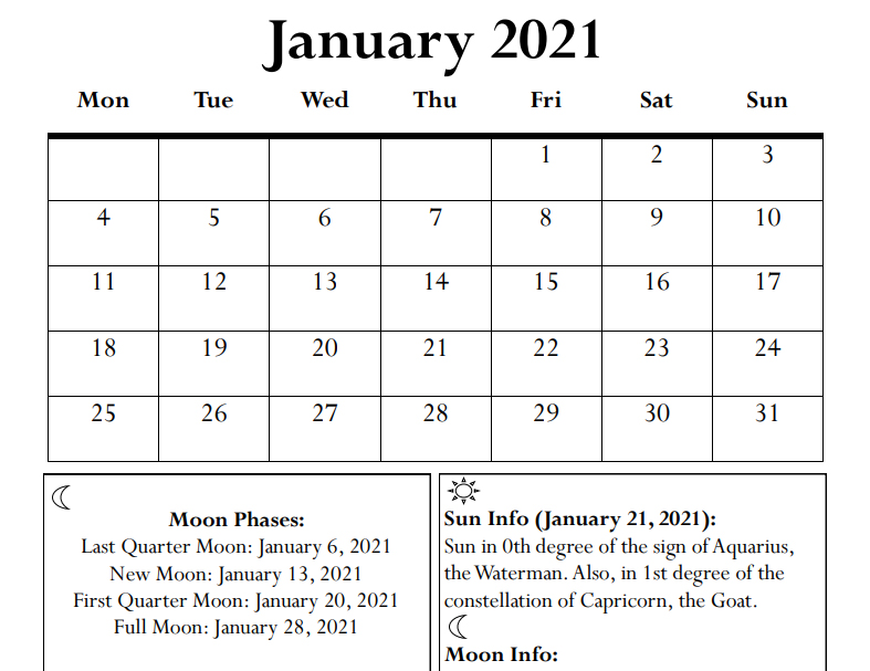 2021 Calendar & Daily Planner - Book Interior - 6