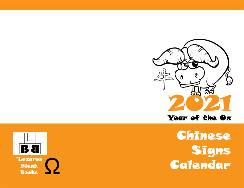2021 Chinese Signs Calendar - Year of the Ox - Full Cover