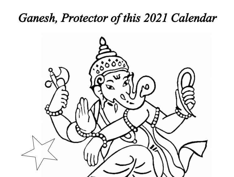 2021 Hindu Gods Calendar Book Interior - 4