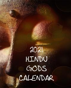 2021 Hindu Gods Calendar Front Cover