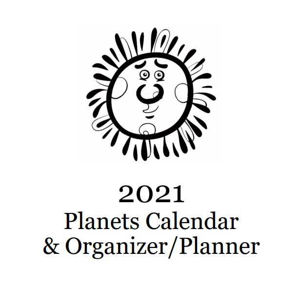 2021 Planets Calendar & Organizer/Planner - Book Interior - 1