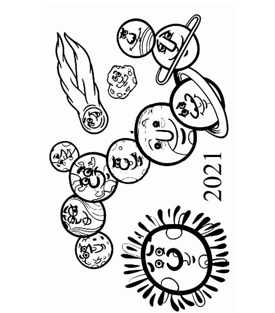 2021 Planets Calendar & Organizer/Planner - Book Interior - 3