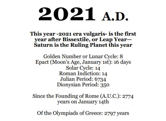 2021 Planets Calendar & Organizer/Planner - Book Interior - 5