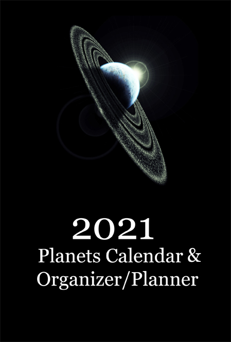 2021 Planets Calendar & Organizer/Planner - Front Cover