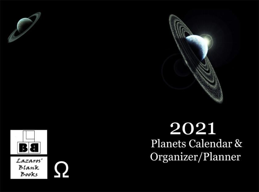 2021 Planets Calendar & Organizer/Planner - Full Cover